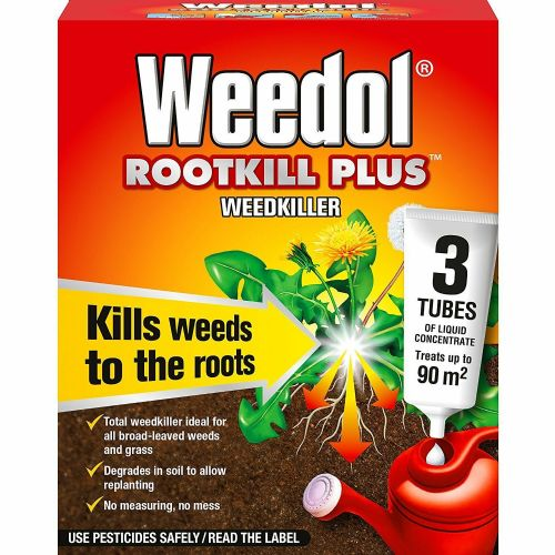 Weedol Rootkill Plus Weedkiller Liquid Concentrate, 3 Tubes